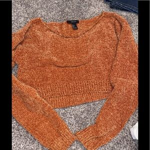 F21 Crop Sweater large